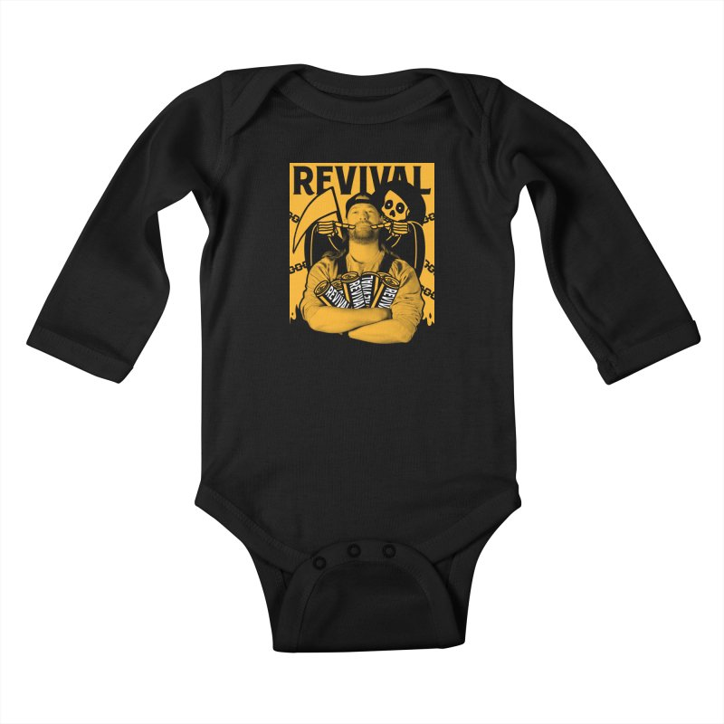 Smile Sine Kids Baby Longsleeve Bodysuit by Revival Brewing