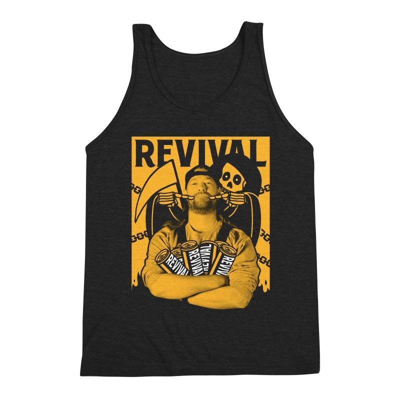 Smile Sine Men's Triblend Tank by Revival Brewing