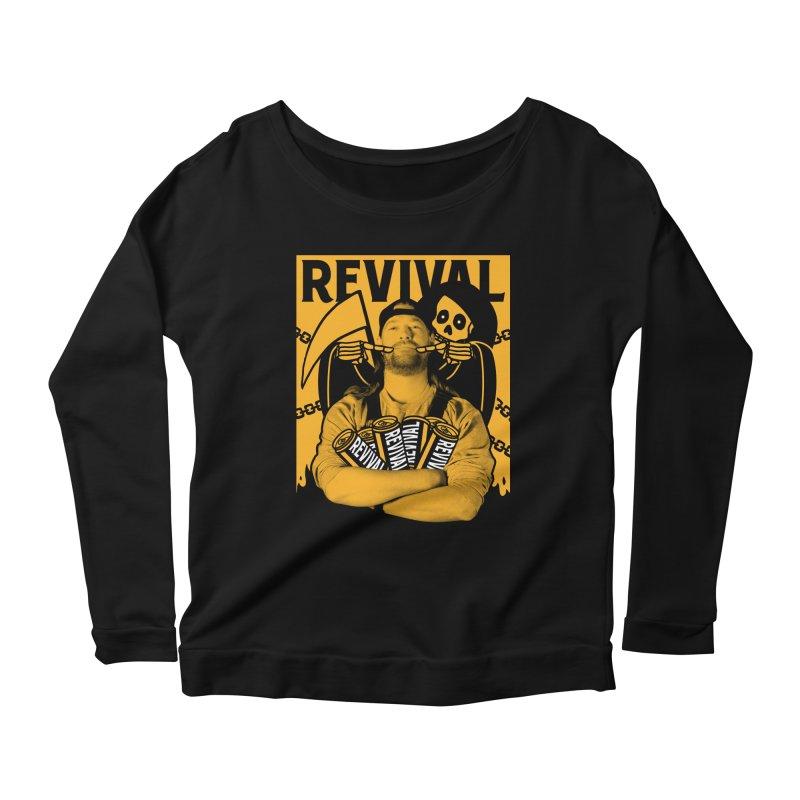 Smile Sine Women's Scoop Neck Longsleeve T-Shirt by Revival Brewing