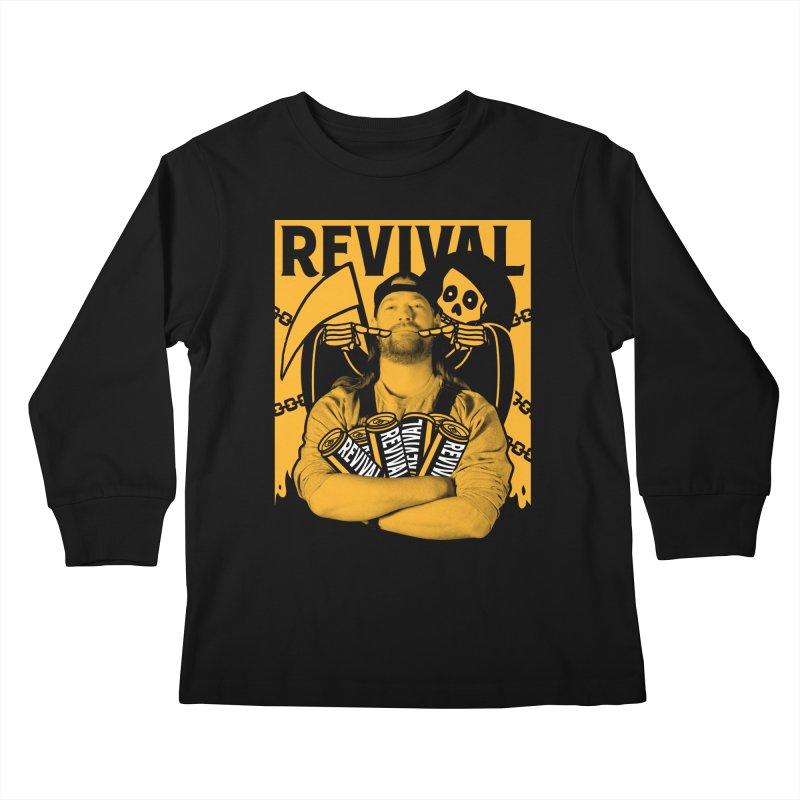 Smile Sine Kids Longsleeve T-Shirt by Revival Brewing
