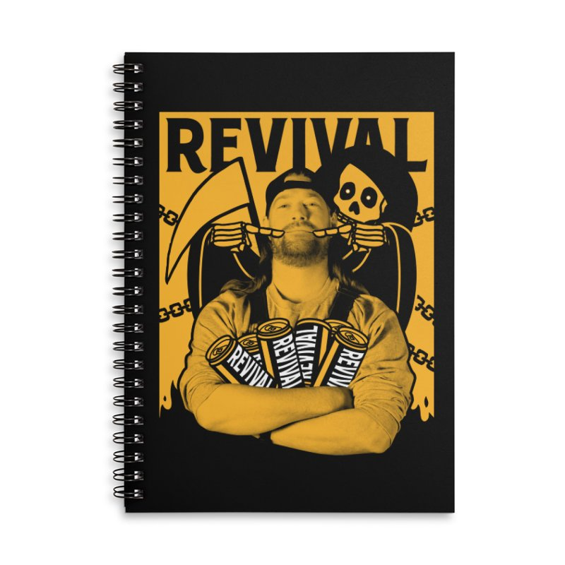 Smile Sine Accessories Lined Spiral Notebook by Revival Brewing