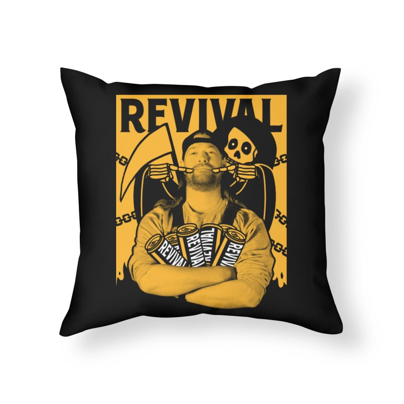 Smile Sine Home Throw Pillow by Revival Brewing