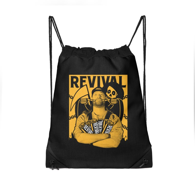 Smile Sine Accessories Drawstring Bag Bag by Revival Brewing