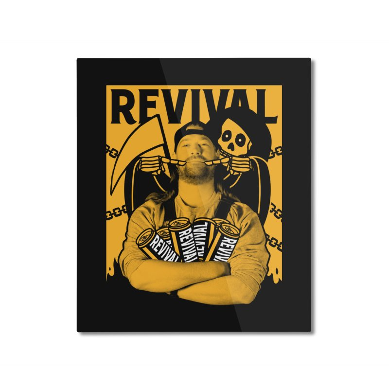 Smile Sine Home Mounted Aluminum Print by Revival Brewing