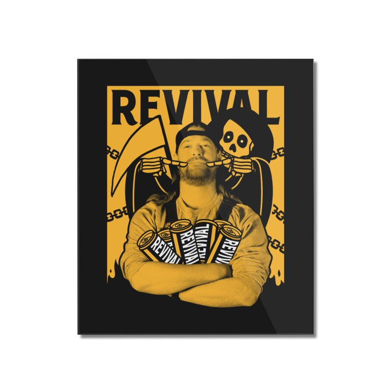 Smile Sine Home Mounted Acrylic Print by Revival Brewing