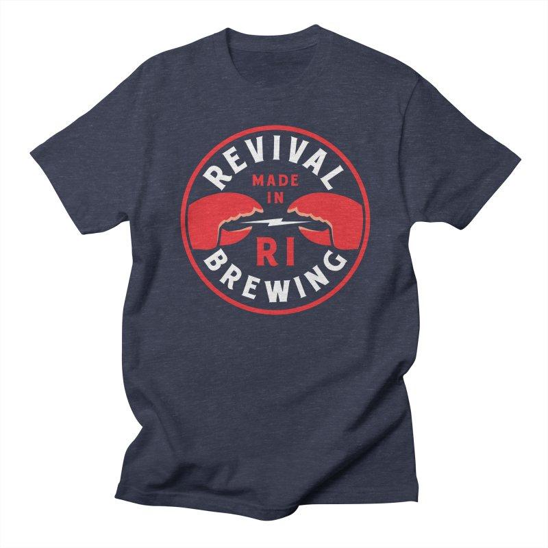 Made in RI Women's Regular Unisex T-Shirt by Revival Brewing