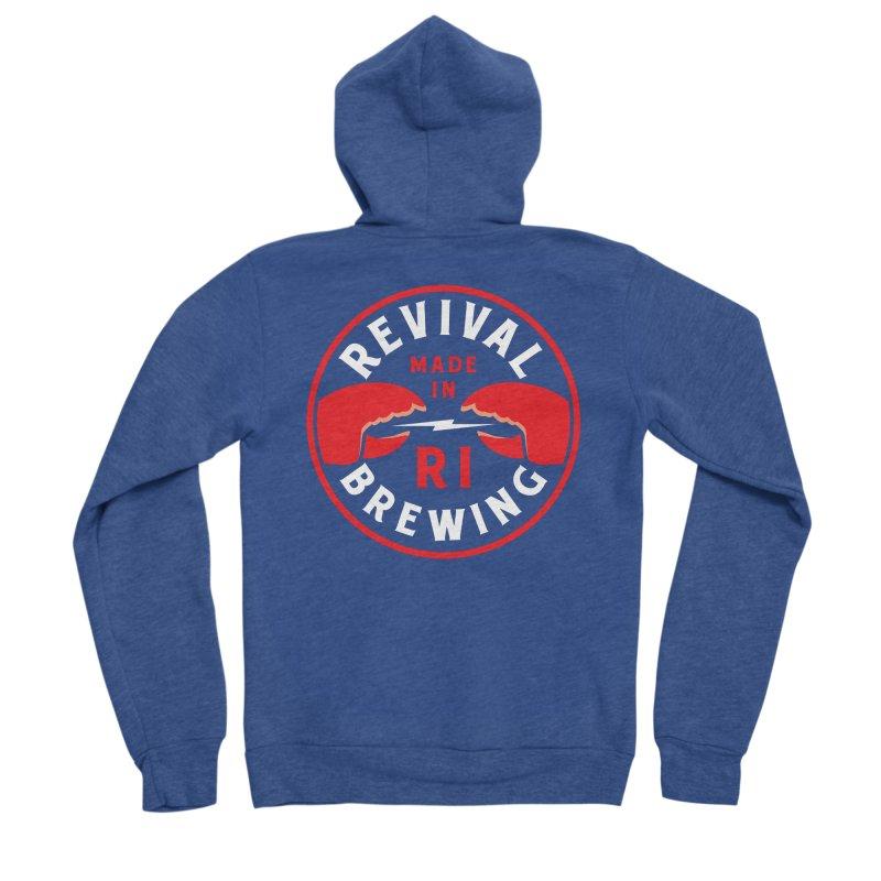 Made in RI Men's Sponge Fleece Zip-Up Hoody by Revival Brewing