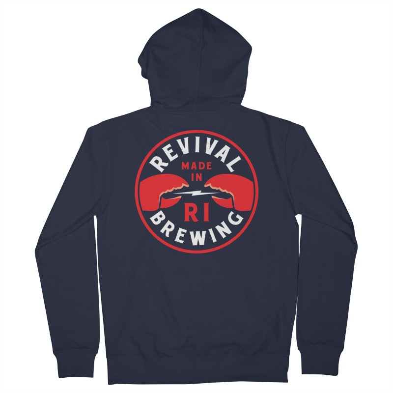 Made in RI Men's French Terry Zip-Up Hoody by Revival Brewing