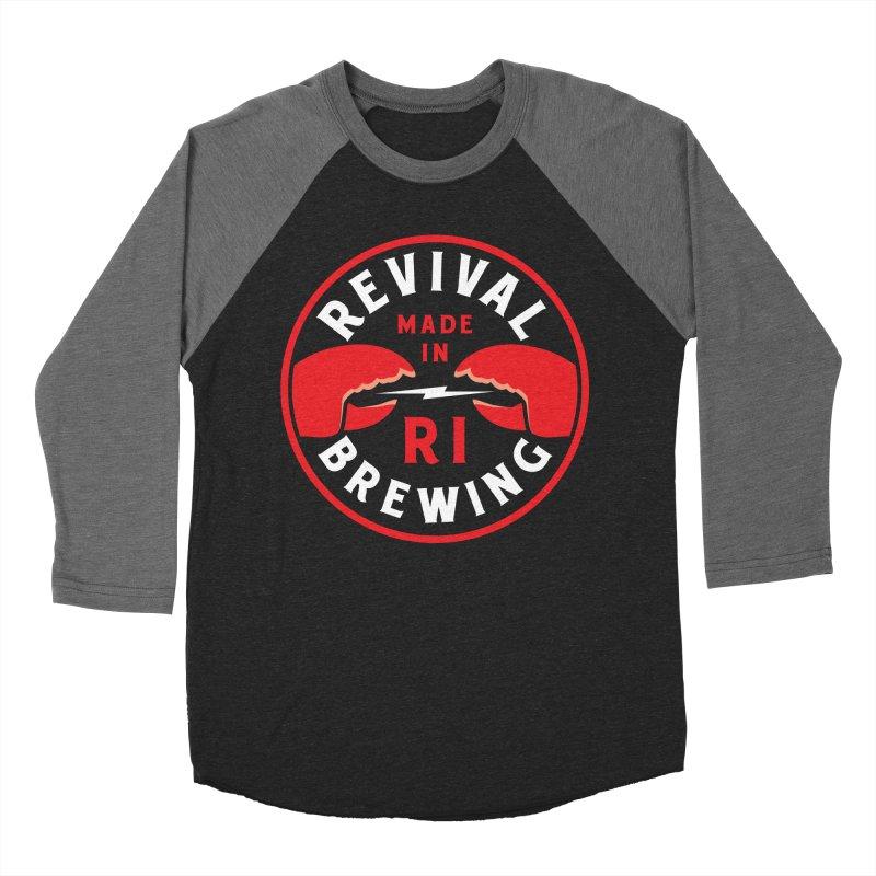 Made in RI Men's Baseball Triblend Longsleeve T-Shirt by Revival Brewing