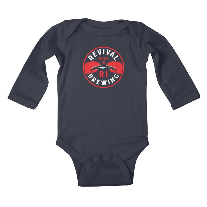 Made in RI Kids Baby Longsleeve Bodysuit by Revival Brewing