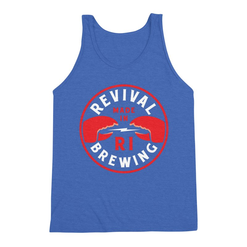 Made in RI Men's Triblend Tank by Revival Brewing