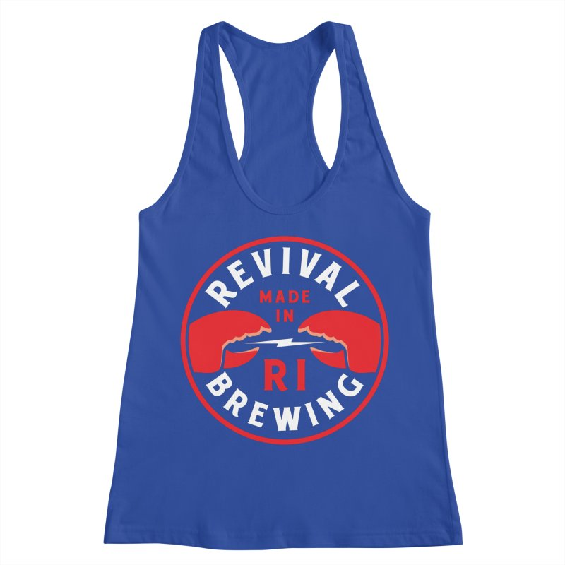 Made in RI Women's Racerback Tank by Revival Brewing