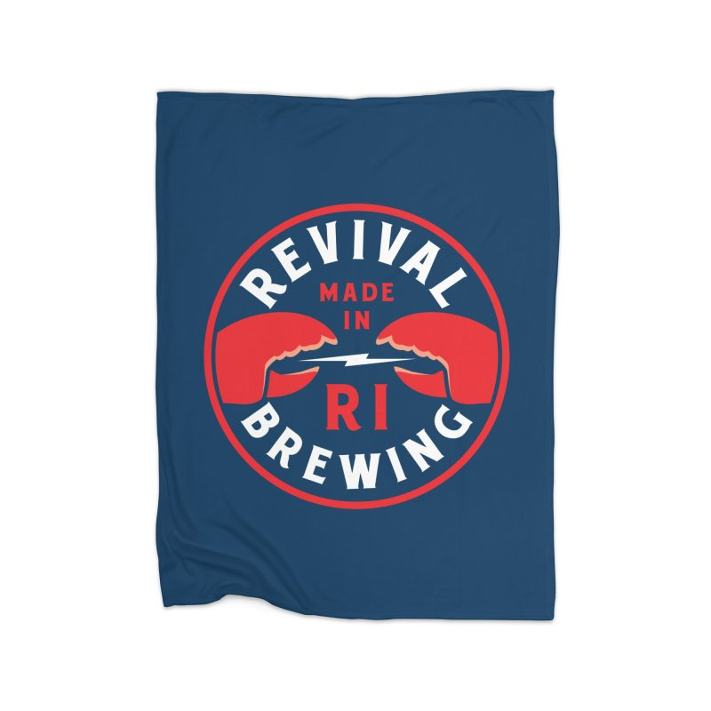 Made in RI Home Fleece Blanket Blanket by Revival Brewing