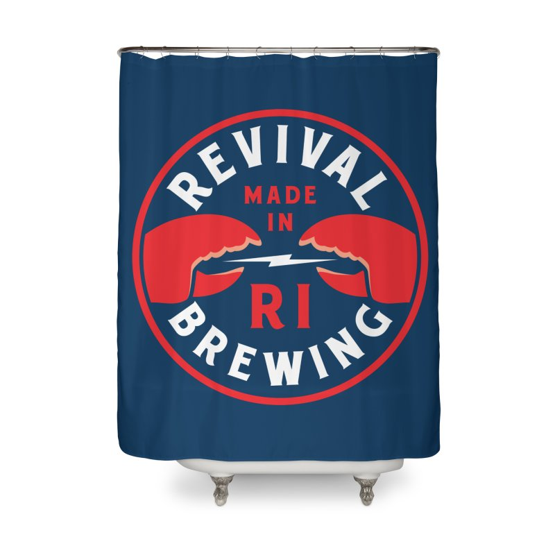 Made in RI Home Shower Curtain by Revival Brewing