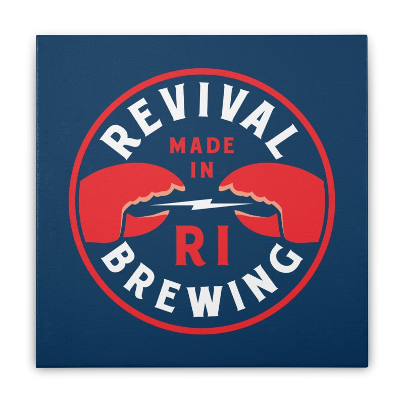 Made in RI Home Stretched Canvas by Revival Brewing