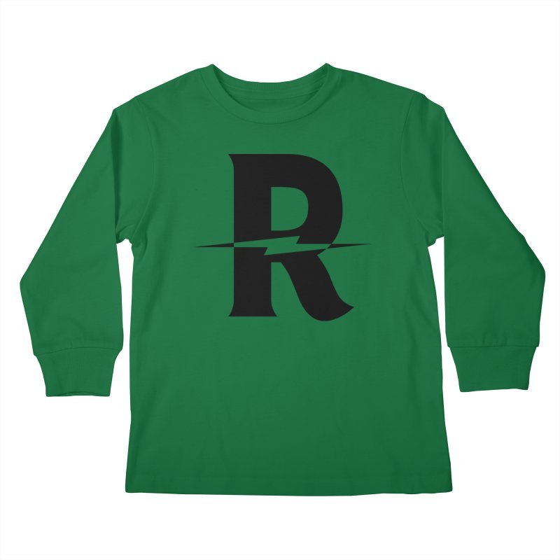 Revival Dark Bolt Kids Longsleeve T-Shirt by Revival Brewing