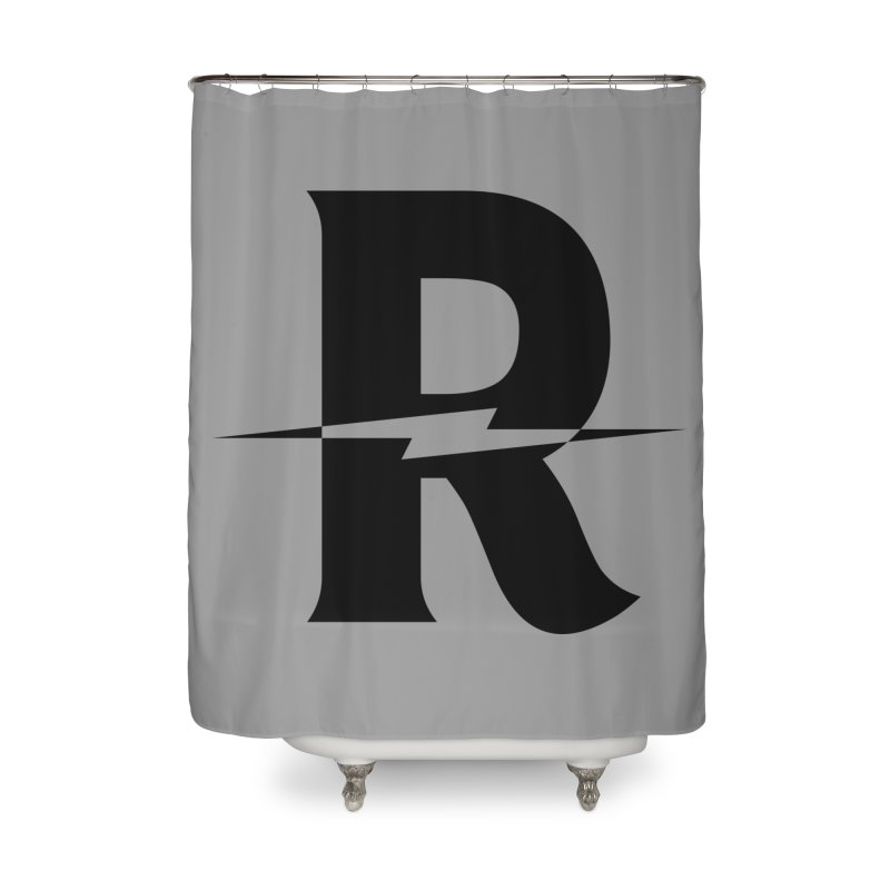 Revival Dark Bolt Home Shower Curtain by Revival Brewing