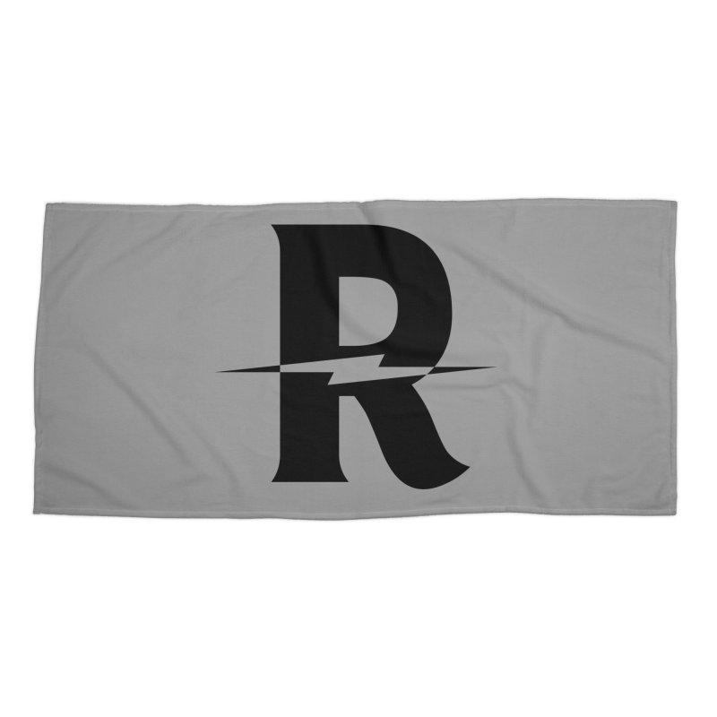 Revival Dark Bolt Accessories Beach Towel by Revival Brewing