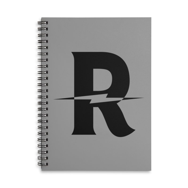 Revival Dark Bolt Accessories Lined Spiral Notebook by Revival Brewing