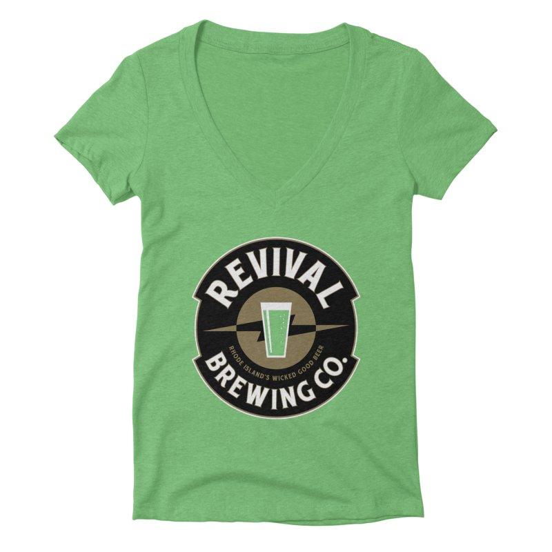 Revival Pint Women's Deep V-Neck V-Neck by Revival Brewing