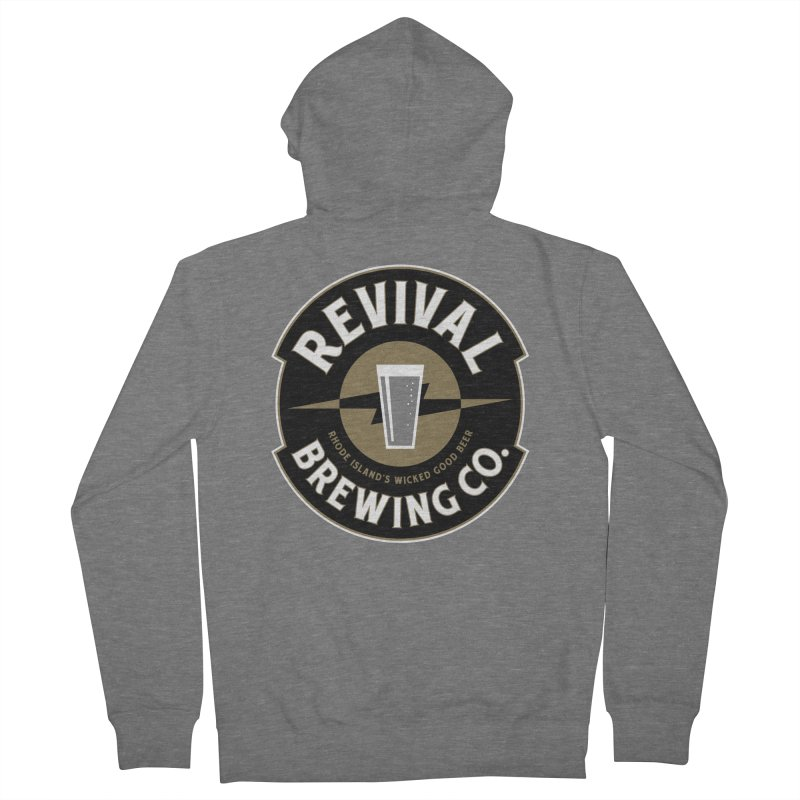 Revival Pint Men's French Terry Zip-Up Hoody by Revival Brewing