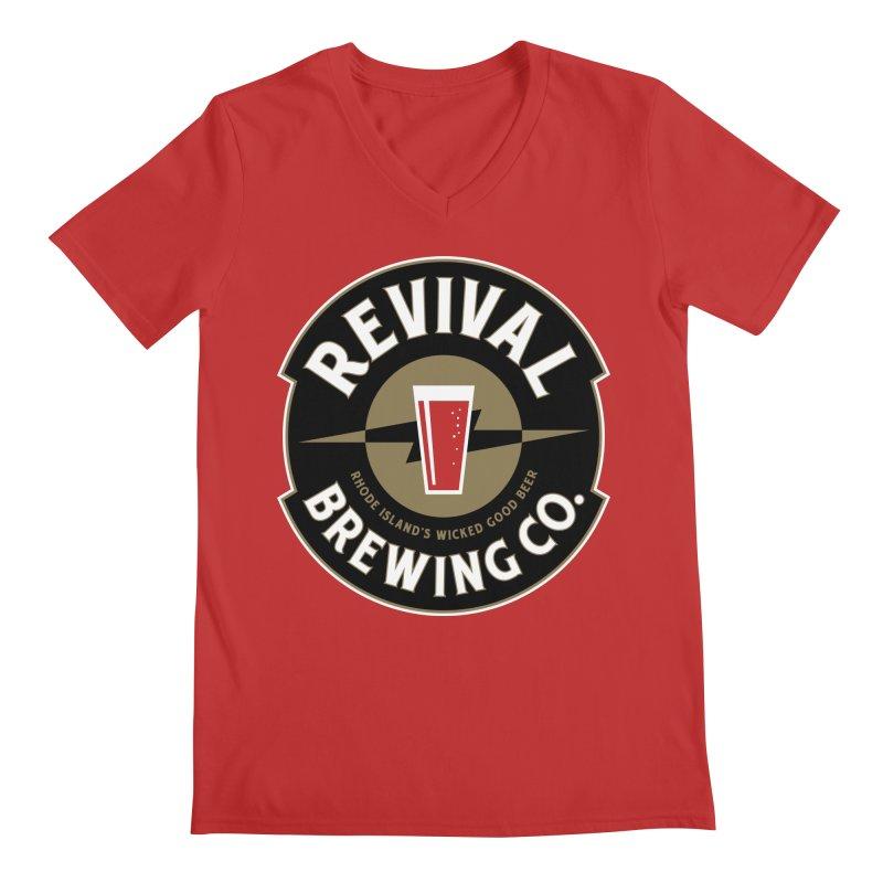 Revival Pint Men's Regular V-Neck by Revival Brewing