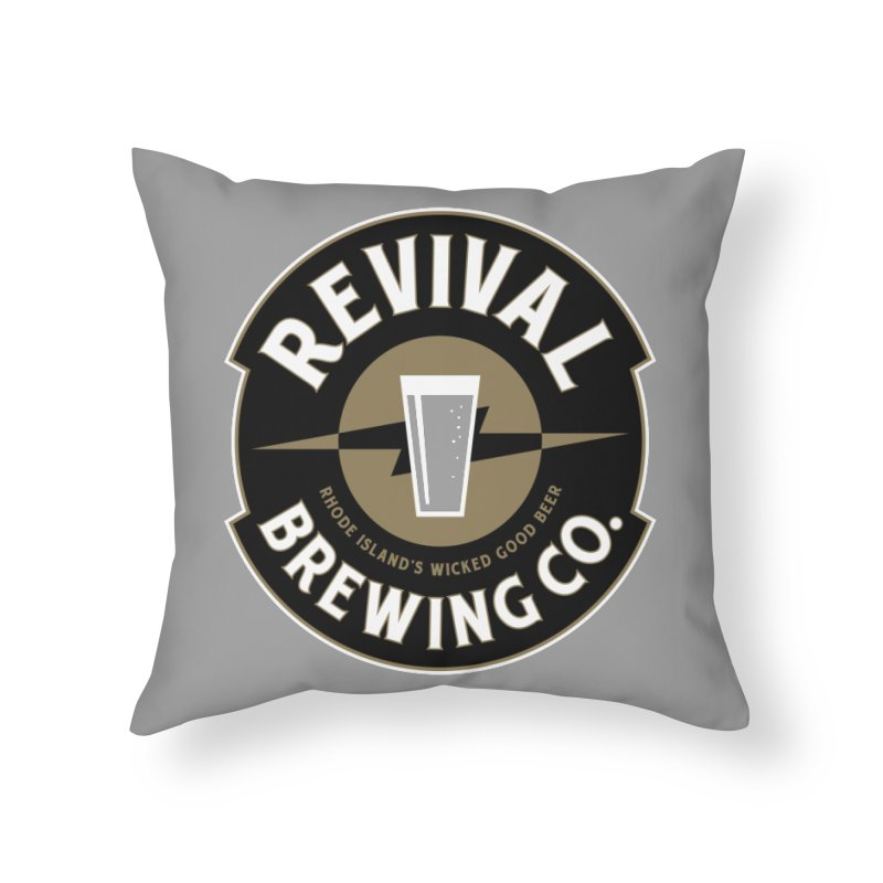 Revival Pint Home Throw Pillow by Revival Brewing