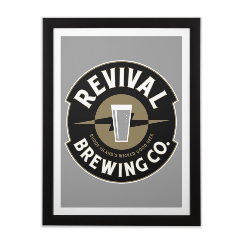 Revival Pint Home Framed Fine Art Print by Revival Brewing