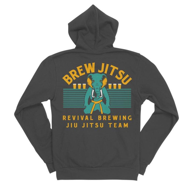 Revival Jiu Jitsu Men's Sponge Fleece Zip-Up Hoody by Revival Brewing