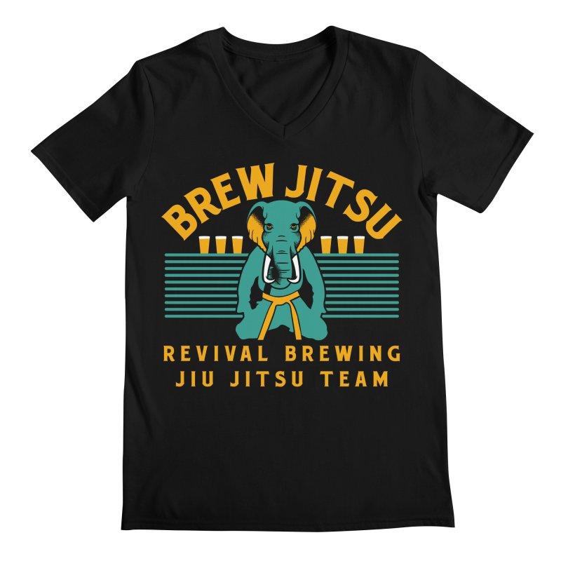 Revival Jiu Jitsu Men's Regular V-Neck by Revival Brewing
