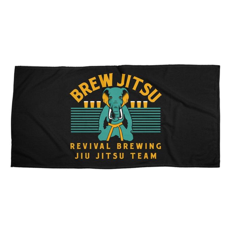 Revival Jiu Jitsu Accessories Beach Towel by Revival Brewing