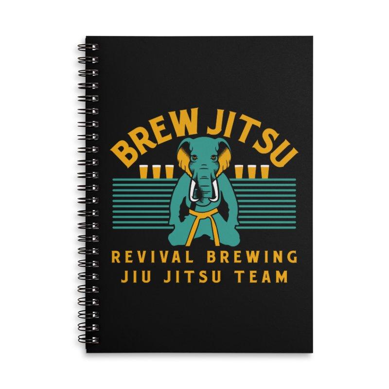 Revival Jiu Jitsu Accessories Lined Spiral Notebook by Revival Brewing