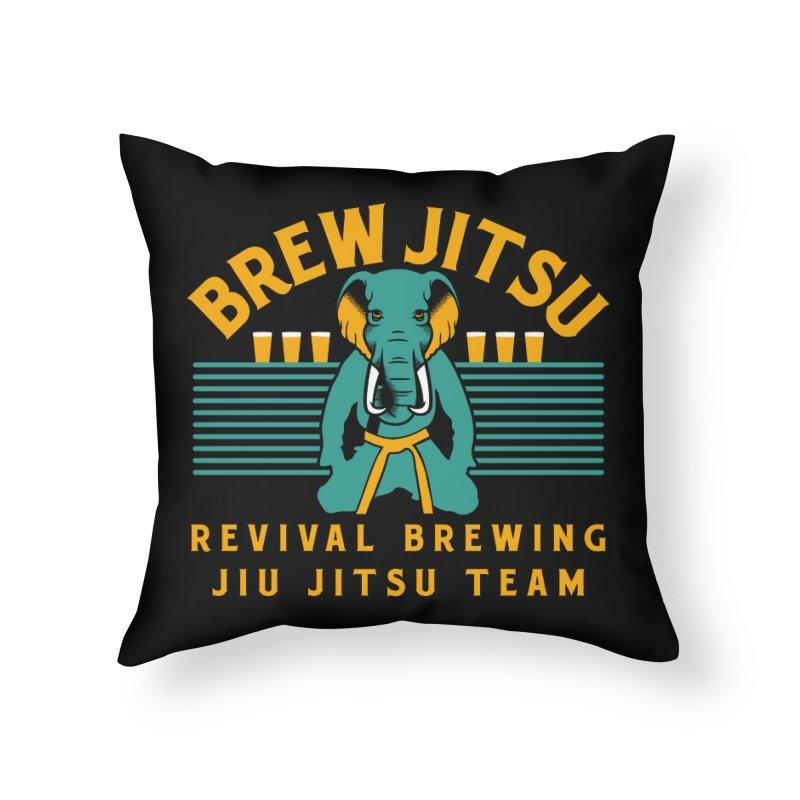 Revival Jiu Jitsu Home Throw Pillow by Revival Brewing