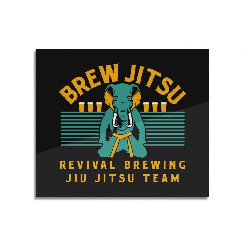 Revival Jiu Jitsu Home Mounted Aluminum Print by Revival Brewing