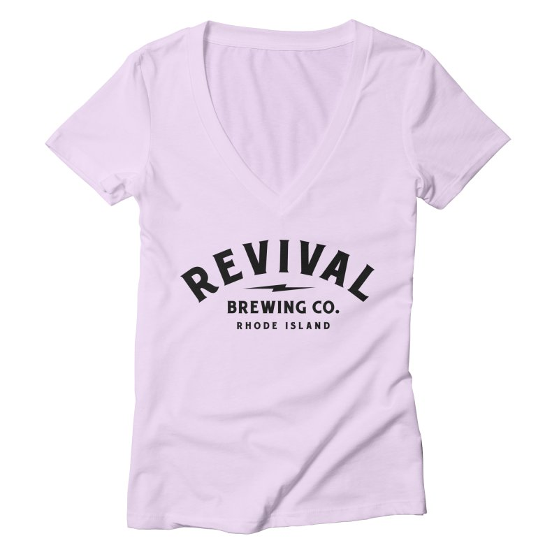 Revival Classic Logo Women's Deep V-Neck V-Neck by Revival Brewing