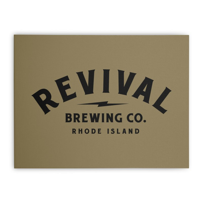 Revival Classic Logo Home Stretched Canvas by Revival Brewing