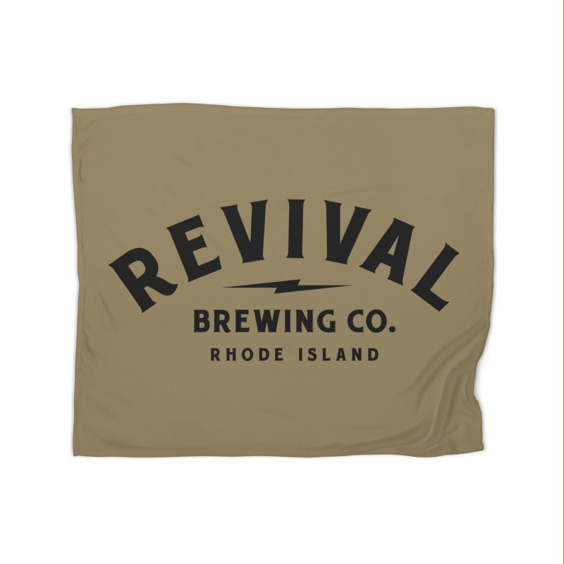 Revival Classic Logo Home Fleece Blanket Blanket by Revival Brewing