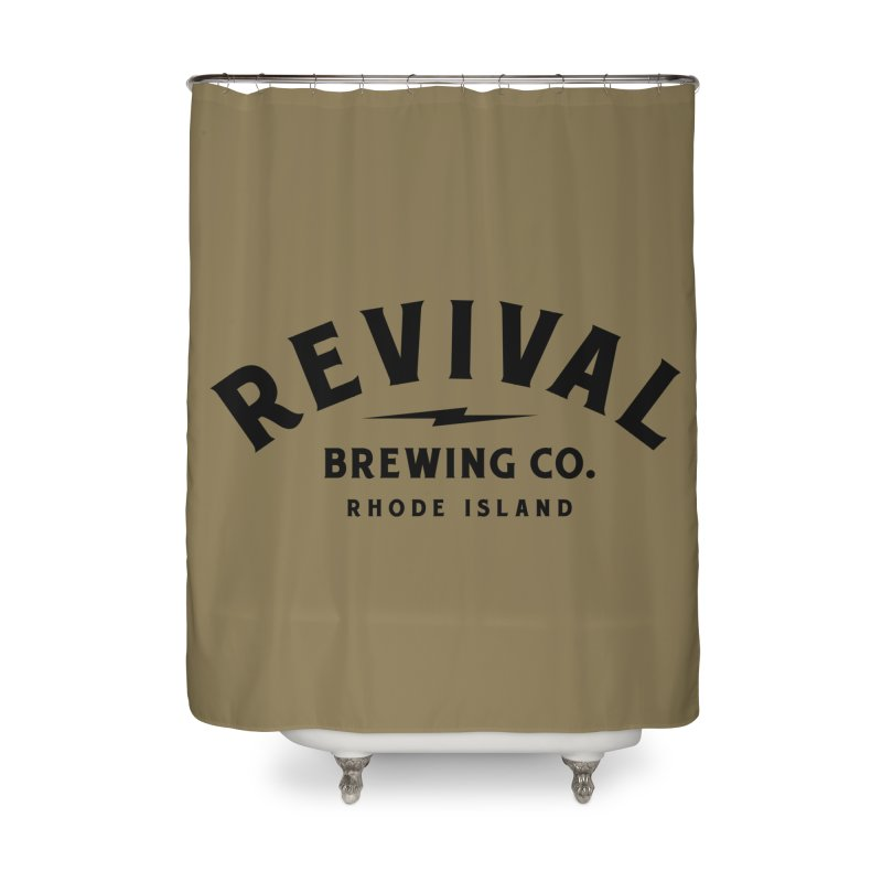 Revival Classic Logo Home Shower Curtain by Revival Brewing