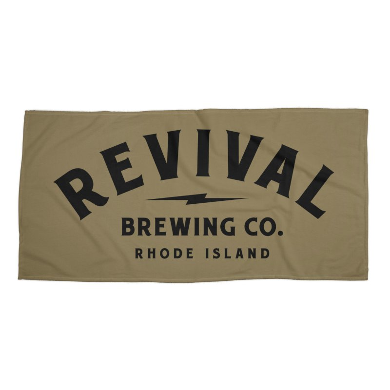 Revival Classic Logo Accessories Beach Towel by Revival Brewing