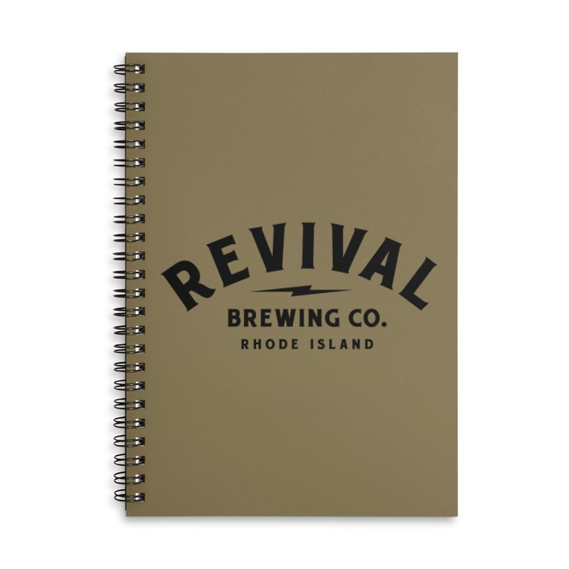 Revival Classic Logo Accessories Lined Spiral Notebook by Revival Brewing