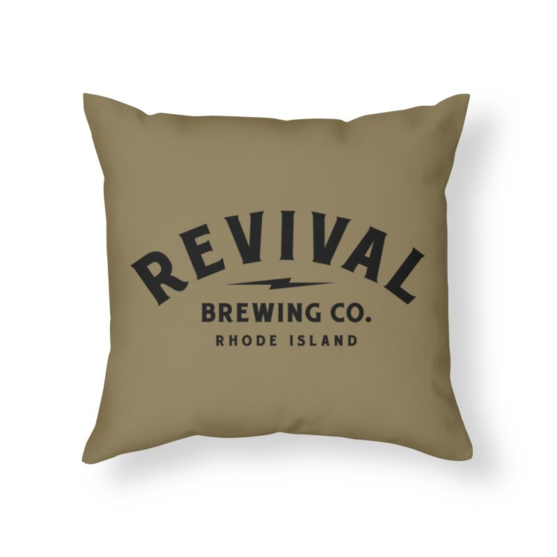 Revival Classic Logo Home Throw Pillow by Revival Brewing