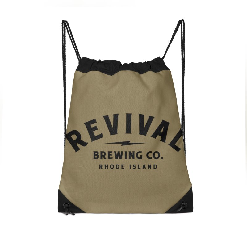 Revival Classic Logo Accessories Drawstring Bag Bag by Revival Brewing
