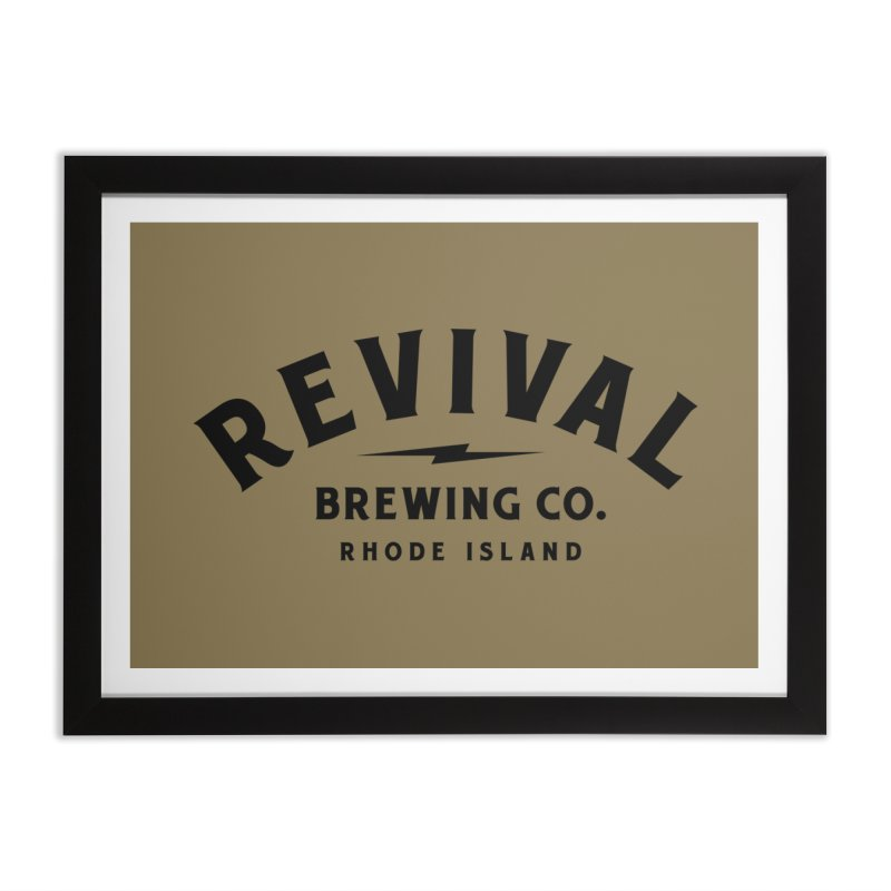 Revival Classic Logo Home Framed Fine Art Print by Revival Brewing