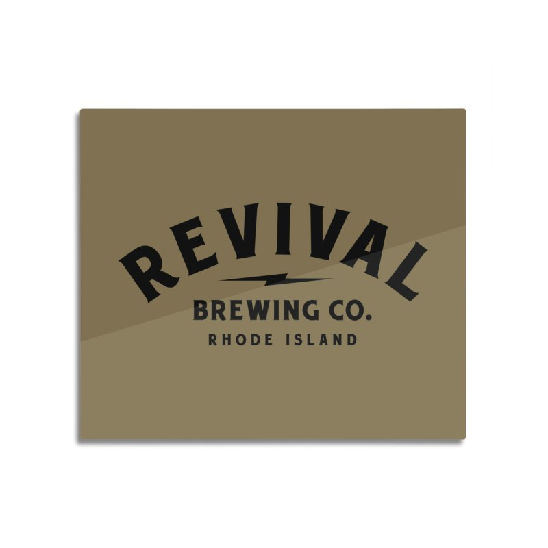 Revival Classic Logo Home Mounted Aluminum Print by Revival Brewing