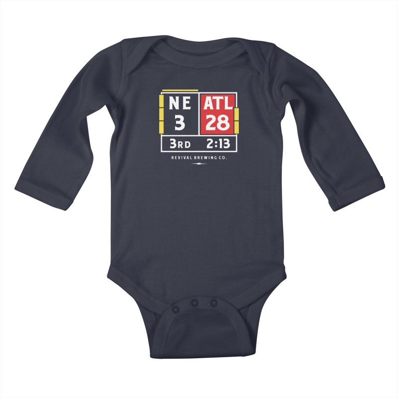 Revival Scoreboard Kids Baby Longsleeve Bodysuit by Revival Brewing