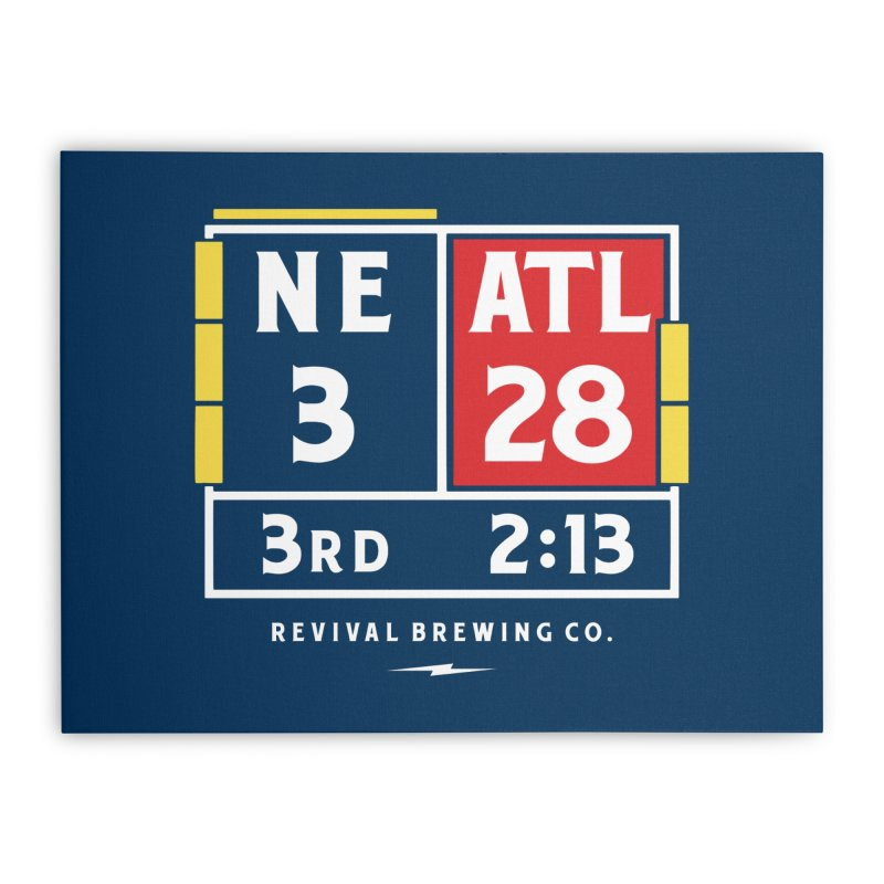 Revival Scoreboard Home Stretched Canvas by Revival Brewing