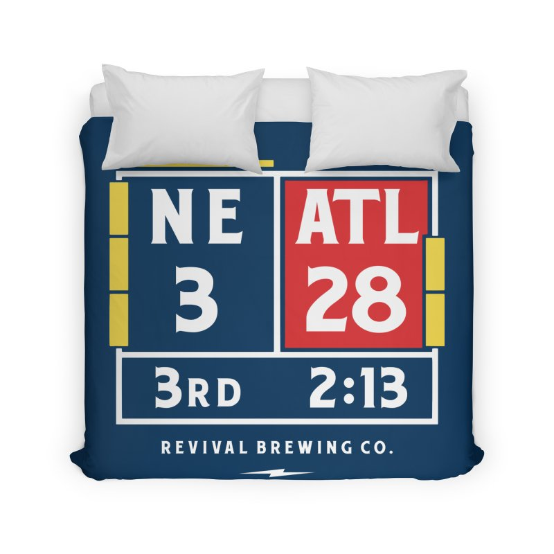 Revival Scoreboard Home Duvet by Revival Brewing