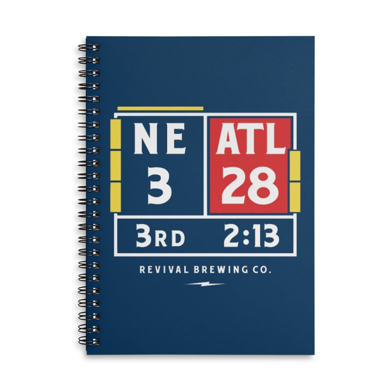 Revival Scoreboard Accessories Lined Spiral Notebook by Revival Brewing
