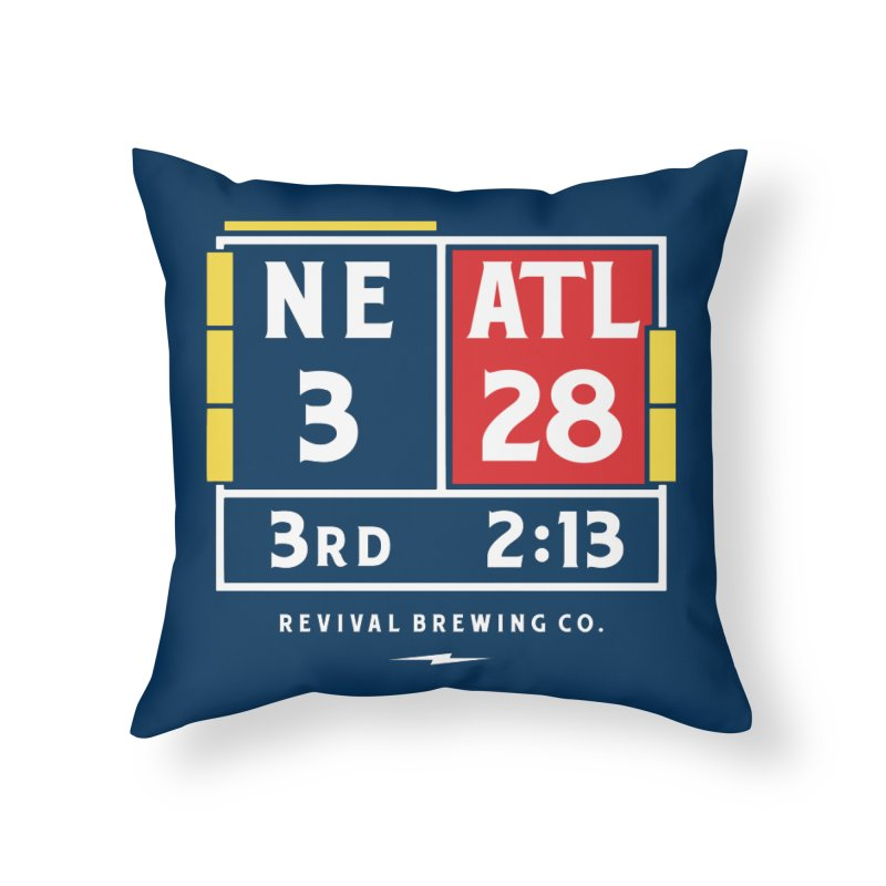 Revival Scoreboard Home Throw Pillow by Revival Brewing