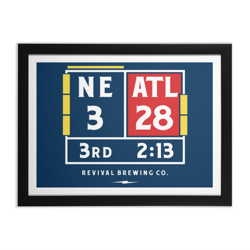 Revival Scoreboard Home Framed Fine Art Print by Revival Brewing